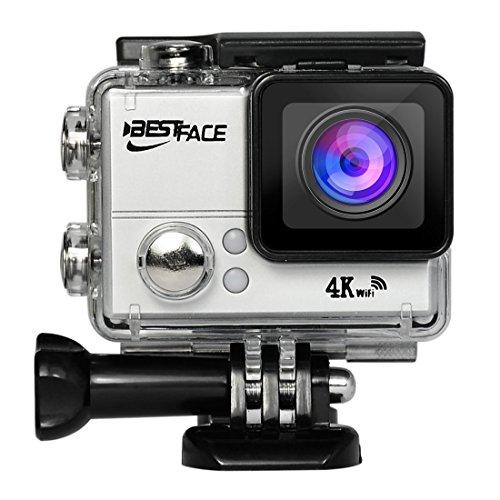 bestface Sport Action Kamera 4K Ultra HD WiFi HDMI 5,1cm LCD-Bildschirm Wasserdicht DV für Outdoor Sporting (Camcorder Memory Samsung)