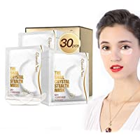 collagene mascherina per occhi, 30pz naturale Crystal Eye Mask per idratante, occhiaie e rigonfiamenti