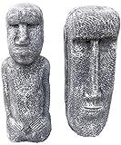 Stone and Style 2 Osterinsel Figuren im Set, massiver Steinguss, frostfest bis -30°C