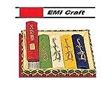 Coffret de 5 bâtons d'encre de chine de couleur