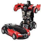 Transformator klein Roboter Auto (Rot)