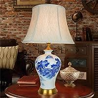 Tabella lampada di ceramica sala blu e