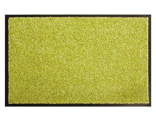 Primaflor - Ideen in Textil Schmutzfangmatte CLEAN – Grün 60cm x 180cm, Waschbare, Rutschfeste, Pflegeleichte Fußmatte, Eingangsmatte, Küchenläufer Matte, Türvorleger für Innen & Außen