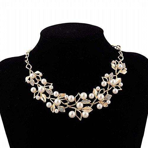 QIYUEQI Ms Halskette aus Metall Flash Diamond Pearl Halskette Modeschmuck Geschenk Filialen