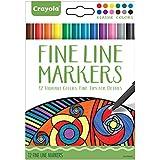 Crayola - 58-7713.0030 - Coloriage pour adultes - Boîte de 12 feutres fins