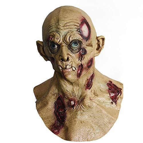 Beängstigend Kostüm Frauen Teufel - YUJJ Halloween Masken Beängstigend Zombie Maske Gruselig Hässlich Cosplay Maskerade Kostüm Requisiten Für Männer Und Frauen