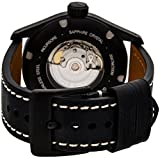 Glycine Incursore Automatic PVD Coated Stainless Steel Mens Strap Watch Black Dial Calendar 3874.999