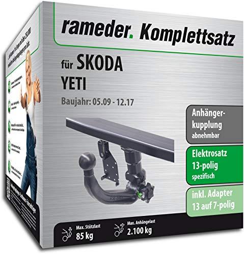 Anhängerkupplung abnehmbar/Rameder komplett-Kit + 13POL Elektrische für Skoda Yeti (119232â 08486â 1)