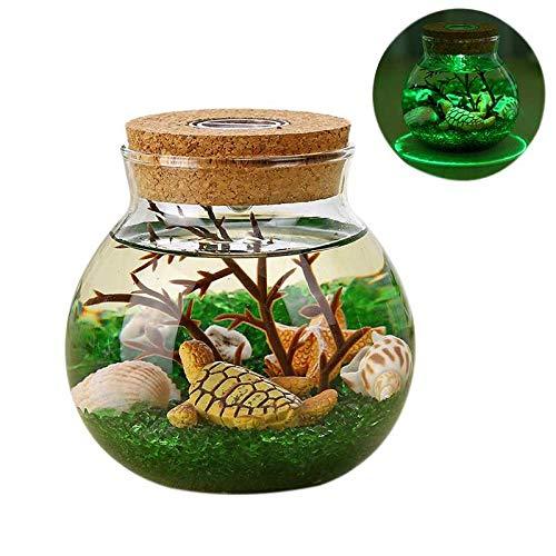 eative Sch?ne Aquarium DIY Licht Dauerhafte Schildkr?te Grüner Sand Haushalt Dekoration Simulation QuAlle Led Lampe ()
