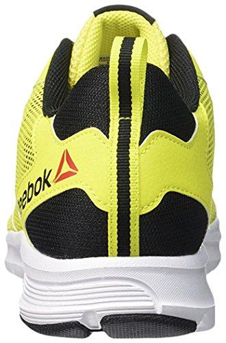 Reebok Rush 2.0, Scarpe da Corsa Uomo Giallo (Amarillo (Hero Yellow / Black / White))