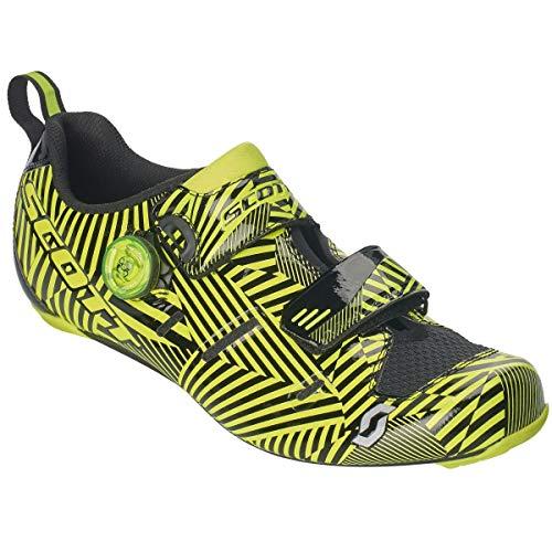 Scott Road Tri Carbon Triathlon Fahrrad Schuhe schwarz/gelb 2019: Größe: 44