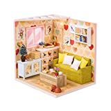 Oshide Puppenhaus Mini DIY House Mit Licht Als Kinder Weihnachten Geschenk Kit Miniatur Dollhouse...
