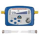 HB-DIGITAL SATFINDER mit LCD Anzeige Kompass und Ton + F-Verbindugskabel + Deutsche Anleitung