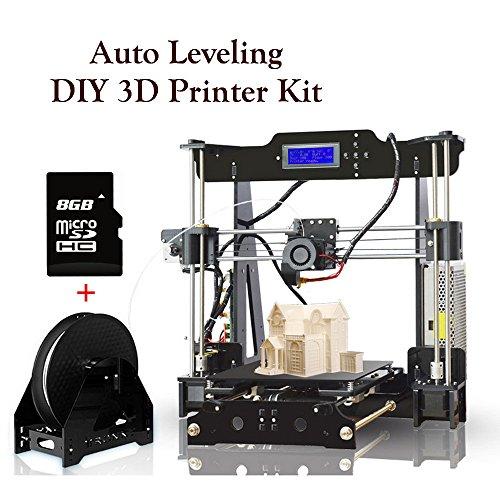 Impresora 3D Pantalla LCD Tarjeta Montar Botiquín Self Assembly DIY Reprap Prusa i3 Impresoras Kit con tarjeta SD para vídeo e imagen Guía de instalación, Tamaño de Impresión Grande 220 * 220 * 240 mm