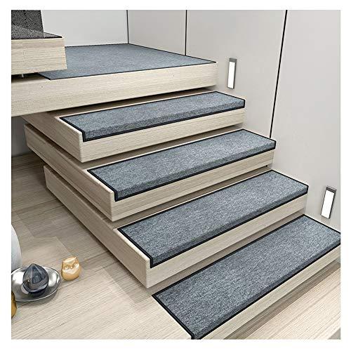 Stufenmatte Treppen-Teppich Rechteck Einfarbig Selbstklebend Kurzer Flaum rutschfest 4 Farben 5 Größen (Color : D- 30X100CM, Size : 5pcs) -