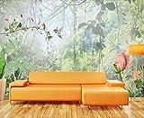 Papier Peint 3D Bel Oiseau De Fleur Vert Jungle Peinture Décoration Murale Home...