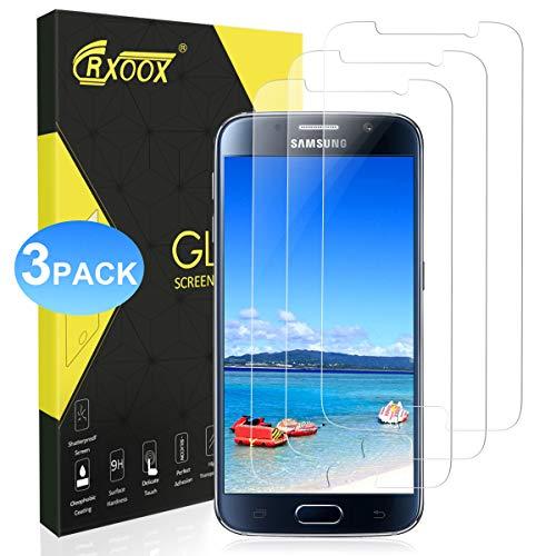 CRXOOX Panzerglas Schutzfolie für Samsung Galaxy S6, Gehärtetem Glas Schirmschutz Fingerabdruck Displayschutzfolie Schutzfolien für Handys für Galaxy S6