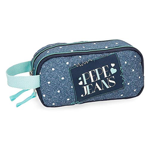 Pepe Jeans Olaia Blue Vanity Case Two compartments