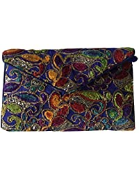 Shubhangi Women's Sling Bag (Jaipuri Embroidered Handicraft Traditional Sling Bags,Multi-Coloured,r32051-Blue)
