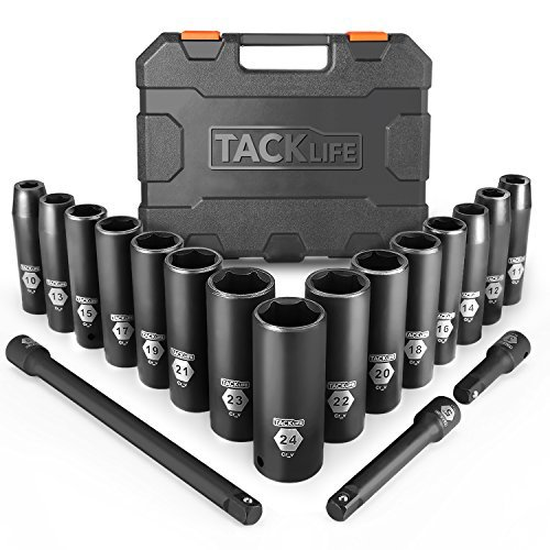 TACKLIFE 18Pcs Aggiornati (Include Set di Prolunghe 3Pcs)