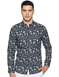Jack & Jones Men's Floral Slim Fit Cotton Casual Shirt