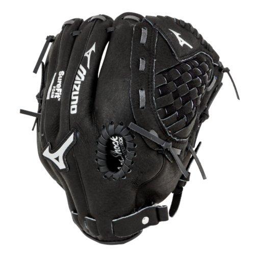 Mizuno gpp1075y1Youth Prospect Ball Handschuh, Unisex, 312089.RG90.08.1075, Schwarz, 10.75 inches -