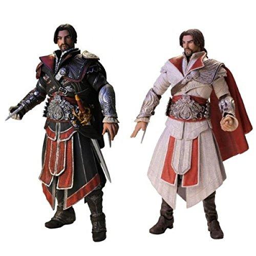assassins-creed-brotherhood-ezio-ebony-ivory-18cm-2er-set