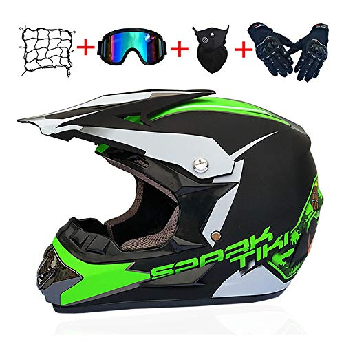 LGFB Motocross Helm Verlangsamungs Offroad-Motorradschutzhelm abnehmbar und waschbar ATV Full Face Vier Jahreszeiten Universal-Motorrad Schutzausrüstung,A,M