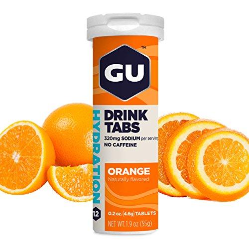 GU Brew Hydration Drink Tabs (Elektrolyt-Brausetabletten), Orange, 12 Stück