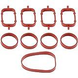 Qiilu 4pcs / 6pcs Joints collecteurs d'assemblage Intel Sealed Repair Kit pour BMW(4Pcs)