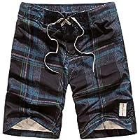 Pantalones cortos de playa de los hombres cortos de verano pantalones sueltos pantalones cortos de los hombres rectos de playa surf pantalones delgados pantalones grandes pareja jogging pantalones
