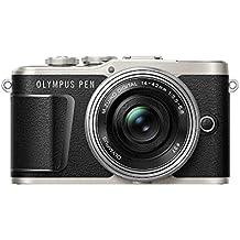 """Olympus PEN E-PL9 - Cámara de sistema compacto de 16 MP (pantalla de 3"""", zoom eléctrico, películas 4k, Wifi) negro y plateado - kit con objetivo compacto  M. Zuiko Digital ED de 14-42 mm"""