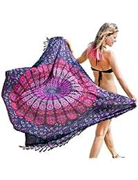 Mandala Life ART Bohemia Mandala Pareo - Piscina Sarong - Bikini Tapa - Traje de Baño - Manta de Playa - Colgante de Pared - Vestido de Verano - Bufanda - Abrigo -Tapiz
