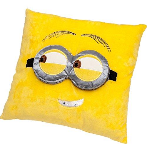 Joy Toy Despicable Me - Minions 90288 - Kissen mit 3D-Augen in weichem kuscheligem Plüsch 36 x 36 cm, gelb