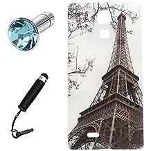 Lusee® Funda de silicona para Cubot P11 5.0 pulgada Suave Cascara TPU virtual tour Eiffel