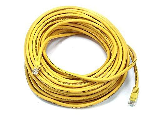 Monoprice 75-feet 24AWG CAT5e 350MHz UTP Bare Kupfer Ethernet Netzwerk Kabel, gelb (105007) (75' Pc)
