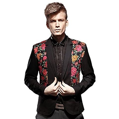 FANZHUAN Blazer Coton Slim Fit Blazers Blazer Loisirs Blazer Veste Colorée Hommes