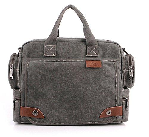 Tonwhar Classic Bags Messenger Bag Laptop-Schultertasche Grau - Grau