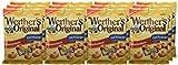 Werther's Original Sahnebonbons zuckerfrei - Schmackhafte Karamellbonbons ohne Zucker zum Naschen für dieganze Familie - (12 x 70g Packung)