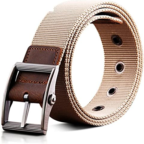 Pasador hebilla de la correa de los hombres/Cinturón de lona/Cinturón cuero