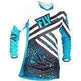 Fly Racing Girls Jersey Kinetic Blau Gr. L