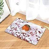 sunnymi Weihnachten Glücklich Voge Teil 2 Flanell Badezimmer Badvorleger,Küche WC Wasser Dämpfung Rutschfester Sockel Vorleger Teppich (40 * 60 cm, C)