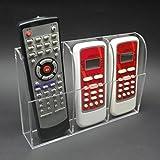 Oriskey 3 Grille Acrylique Support Mural Porte Télécommande TV Air Conditionné Transparent Rangement Boîte