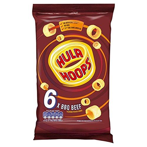 KP Hula Hoops BBQ Beef Snacks 7 X 25G