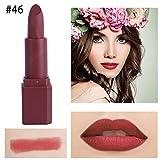 Wasserfester, langanhaltender, Matter Lipgloss Lippenstift, Malloom Lippenstift Matt wasserdicht langlebige Lip Kosmetik Make up