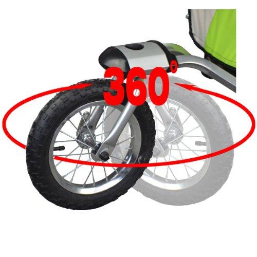Vollgefederter Kinderfahrradanhänger mit Joggerfunktion Fahrradanhänger Exclusiv 504S-03 - 6