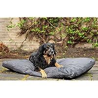 Hundekissen Outdoor für große Hunde XL 120x80 cm. hundebett xxl Grau, Wasserfest, wasser abweisend. Hundebett outdoor und indoor, XXL speziell für mittelgroße bis grosse Hunde. Robustes und wasserdichtes material. rutschfest, Baumwolle, geeignet für Hundebox und hundekäfig