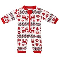 Ironheel Top, Weihnachten Familie Pyjamas Anzug Cute Deer Printing Nachtwäsche Anzug Mutter Vater Tochter Sohn Nachtwäsche Langarm-Anzug