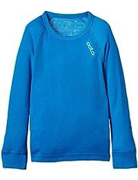 Camiseta técnica manga larga para jóvenes, modelo Crew Neck Warm de la marca Odlo, color Methyl, tamaño 80