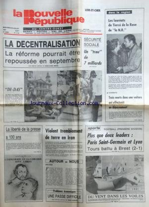 NOUVELLE REPUBLIQUE (LA) [No 11192] du 29/07/1981 ...